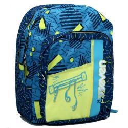 Zaino scuola Outsize SEVEN - SWAG Nero Bundle Boy- 33 LT - inserti rifrangenti