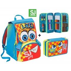 SJ Faccine Flip System con Astuccio (Rosa) Schoolpack