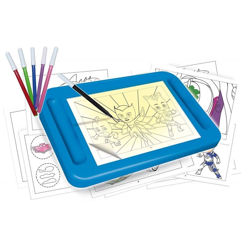 Pj mask scuola di disegno con tavolo luminoso cartoleria scarabocchio - Tavolo luminoso per disegno ...