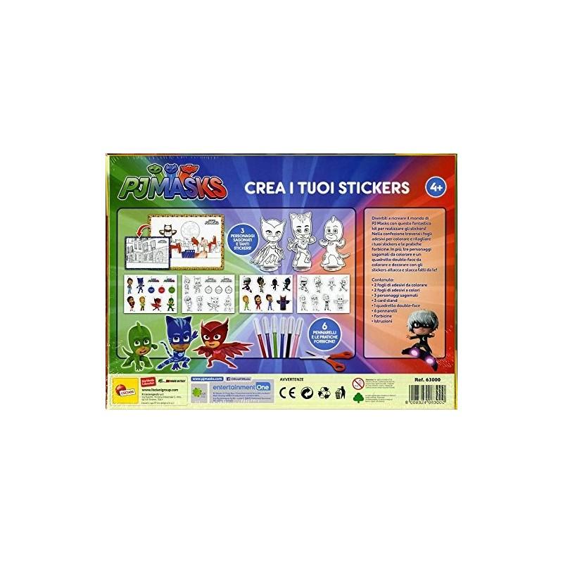 Pj masks crea i tuoi stickers cartoleria scarabocchio for Crea i tuoi progetti